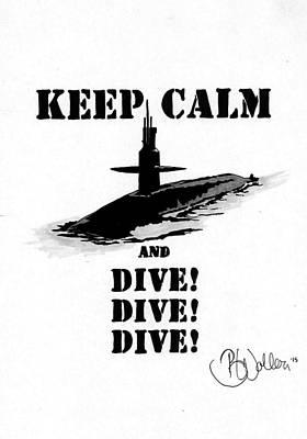 Keep Calm And Dive Original