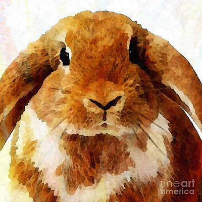 Keep Calm And Love Bunnies Art Print