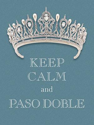 Caravaggio - Keep Calm and Paso Doble Diamond Tiara Turquoise Texture by Kathy Anselmo