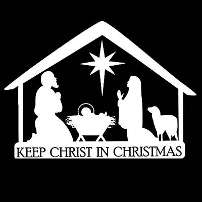 Photograph - Keep Christ In Christmas by Munir Alawi