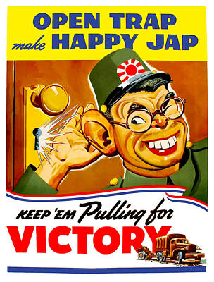 United States Mixed Media - Keep Em Pulling For Victory - Ww2 by War Is Hell Store