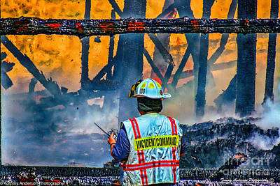 Fireground Photograph - Keep Fire In Your Life #14 by Tommy Anderson