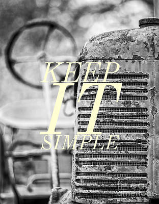 Photograph - Keep It Simple by Edward Fielding