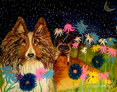 Keep Me Safe Ms Lily Art Print by Mary Sisson