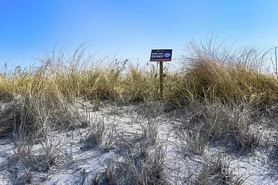 Photograph - Keep Off The Dunes- Ocean Grove by Colleen Kammerer
