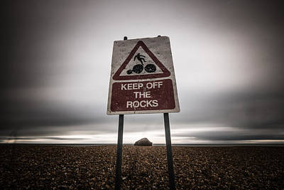 Photograph - Keep Off The Rock by Will Gudgeon