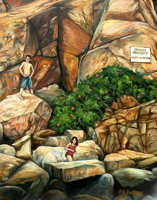 Painting - Keep Off The Rocks by Eileen Patten Oliver