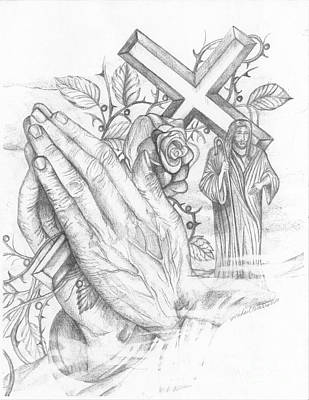 Keep Praying Art Print by Michael Warren