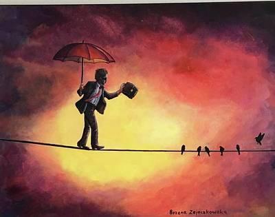 Painting - Keep The Balance by Bozena Zajaczkowska