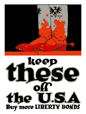Liberty Painting - Keep These Off The Usa - Ww1 by War Is Hell Store