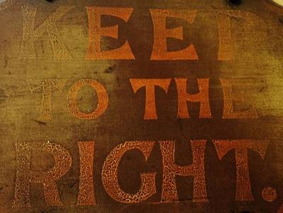 Photograph - Keep To The Right by Richard Brookes