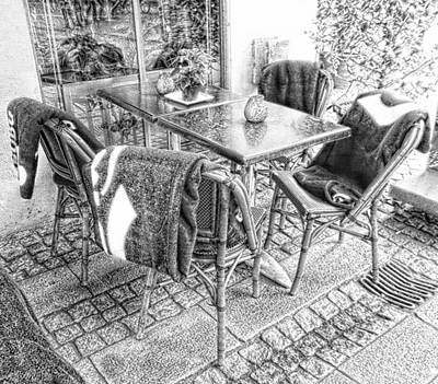 Photograph - Keep Warm Eating Outside by Dorothy Berry-Lound