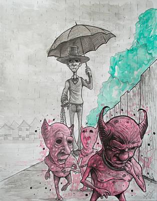 Keep Your Demons Leashed Art Print