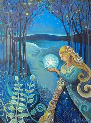 Pentagram Painting - Light Keeper  by Lara Larson