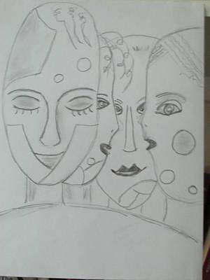 Drawing - Keeper Of Secrets by Sharyn Winters