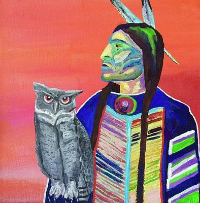 Painting - Keeper Of The Night by Brenda Pressnall