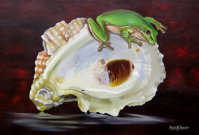 Painting - Keeper Of The Shells by Phyllis Beiser