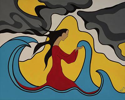First Daughters Painting - Keeper Of Water by Krystle Retieffe