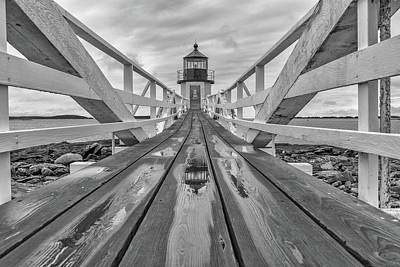 Atlantic Ocean Photograph - Keeper's Walkway At Marshall Point by Rick Berk