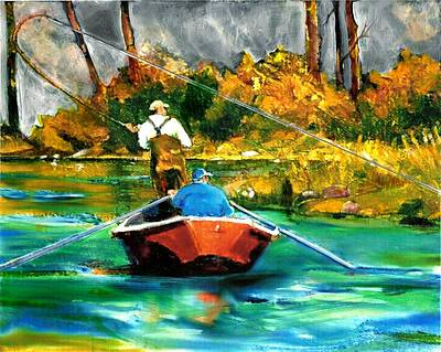 Painting - Keeping A Tight Line by Joseph Barani