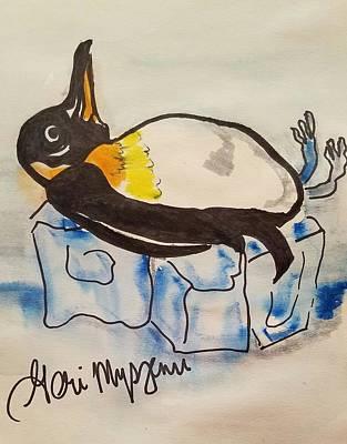 Cartoonist Digital Art - Keeping It Cool by Geraldine Myszenski