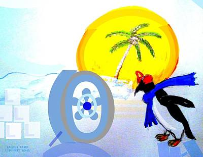 Book Collecting Digital Art - Keeping It Cool by Larry E Lamb