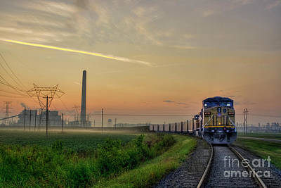 Keeping On Track Art Print by Larry Braun