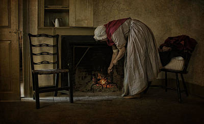 Photograph - Keeping The Home Fire Burning by Robin-Lee Vieira