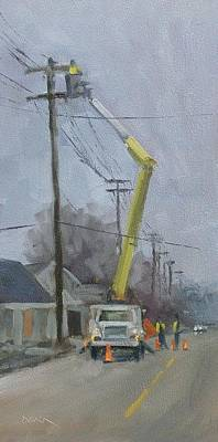 Painting - Keeping The Lights On by Todd Derr
