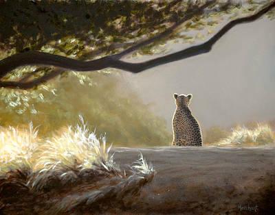 Keeping Watch - Cheetah Art Print