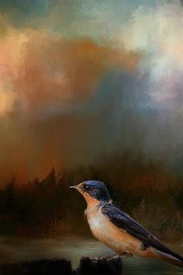 Swallow Photograph - Keeping Watch by Jai Johnson