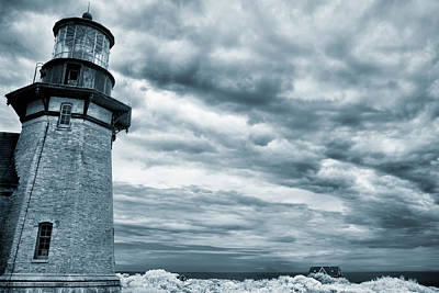 Photograph - Keeping Watch- Lighthouse Blues by Luke Moore