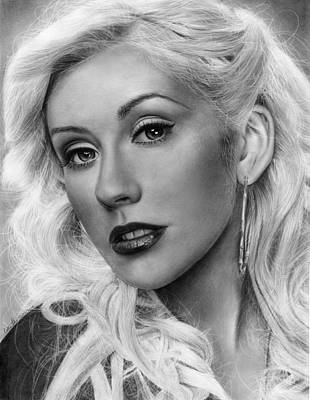 Christina Aguilera Drawing - Keeps Getting Better by Callie Fink