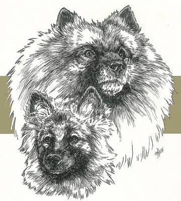 Keeshond And Pup Art Print