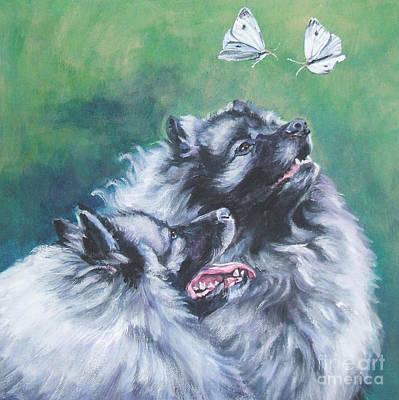 Painting - Keeshond by Lee Ann Shepard