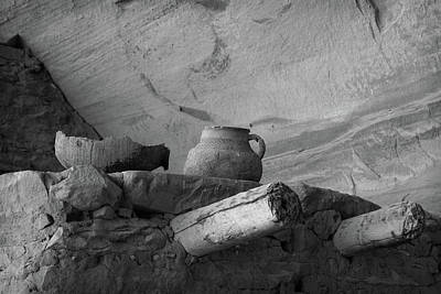 Photograph - Keet Seel Ruins Pottery by Larry Pollock