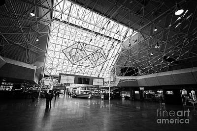 Airport Terminal Photograph - Keflavik Airport Departures Area Terminal Building Iceland by Joe Fox