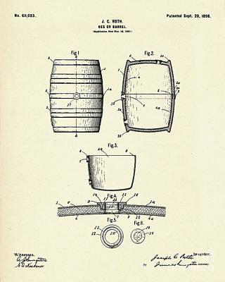 Barrel Painting - Keg Of Barrel-1898 by Pablo Romero