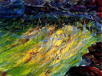 Plein Air Painting - Keiki Pond by Richard Rochkovsky