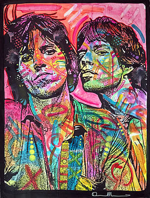 Rolling Stones Wall Art - Painting - Keith And Mick by Dean Russo Art