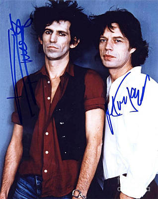 Keith And Mick Signed Art Print by Pd