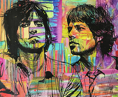 Rolling Stones Wall Art - Painting - Keith And Mick Sway by Dean Russo Art