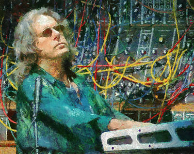 Emerson Digital Art - Keith Emerson by Galeria Zullian  Trompiz