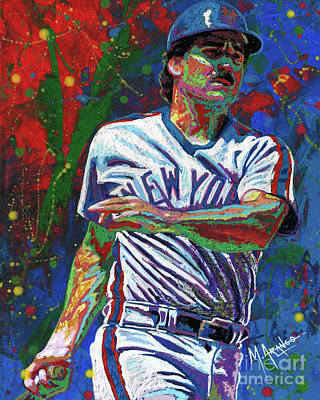 Painting - Keith Hernandez by Maria Arango