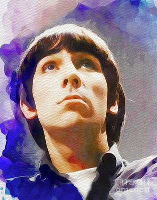 Music Painting Rights Managed Images - Keith Moon, Music Legend Royalty-Free Image by Esoterica Art Agency