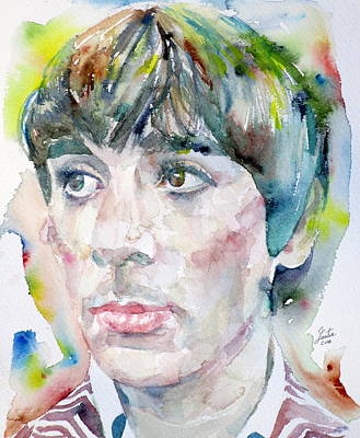 Keith Moon Painting - Keith Moon - Watercolor Portrait.2 by Fabrizio Cassetta