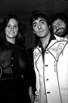 Keith Moon Photograph - Keith Moon With Linda Lovelace And Micky Dolenz by James Fortune