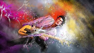 Keith Richards 02 Print by Miki De Goodaboom