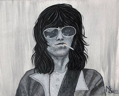 Painting - Keith Richards by Absinthe Art By Michelle LeAnn Scott