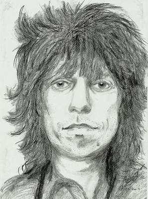 Keith Richards Art Print by Alison Hayes